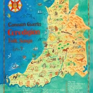 ceredigion folk song map
